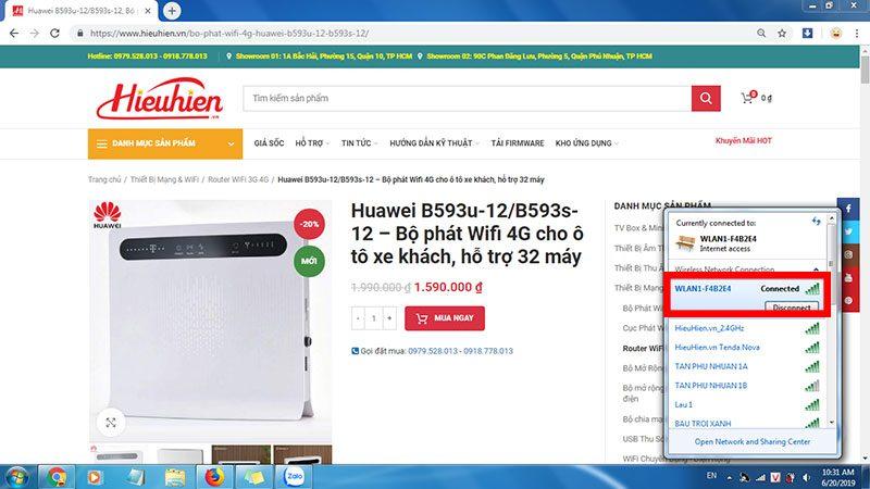 hướng dẫn cấu hình bộ phát wifi 4g huawei b593u-12/b593s-12