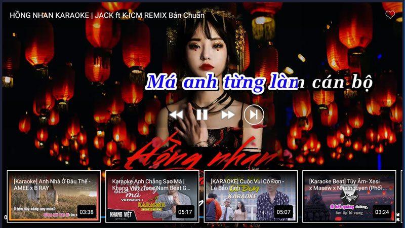kekara - karaoke online - tải về apk - ứng dụng android tv box - giao diện