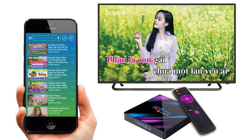 kekara - karaoke online - tải về apk - ứng dụng android tv box - chọn bài hát trên điện thoại