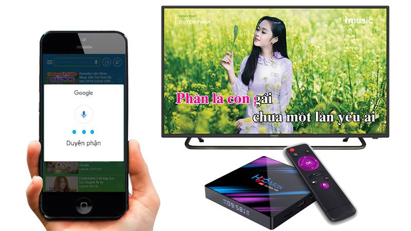 kekara - karaoke online - tải về apk - ứng dụng android tv box - tìm kiếm bài hát bằng giọng nói trên điện thoại