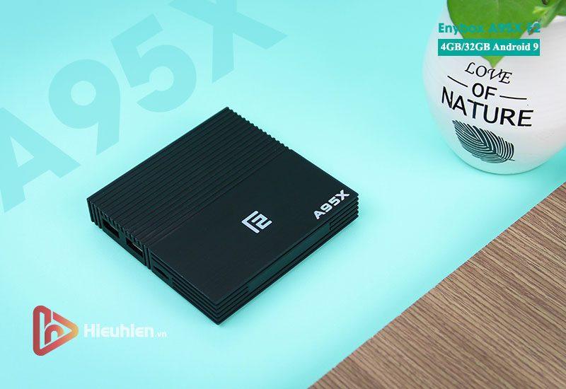 android tv box enybox a95x f2 4gb ram, 32gb rom chip xử lý s905x2 hệ điều hành android 9.0 - hình 01