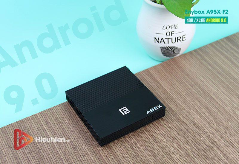 android tv box enybox a95x f2 4gb ram, 32gb rom chip xử lý s905x2 hệ điều hành android 9.0