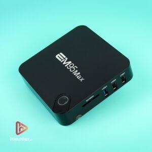 android tv box enybox em95 max ram 2gb, rom 16gb, chip xử lý amlogic s905x2, hệ điều hành android 9