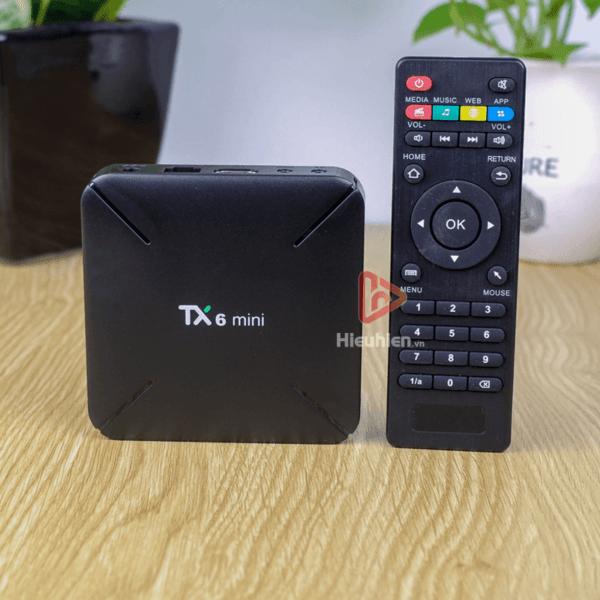 android tv box tanix tx6 mini trang bị cấu hình ram 2gb, rom 16gb, chíp xử lý allwiner h6, chạy hệ điều hành android 9 - hình 01