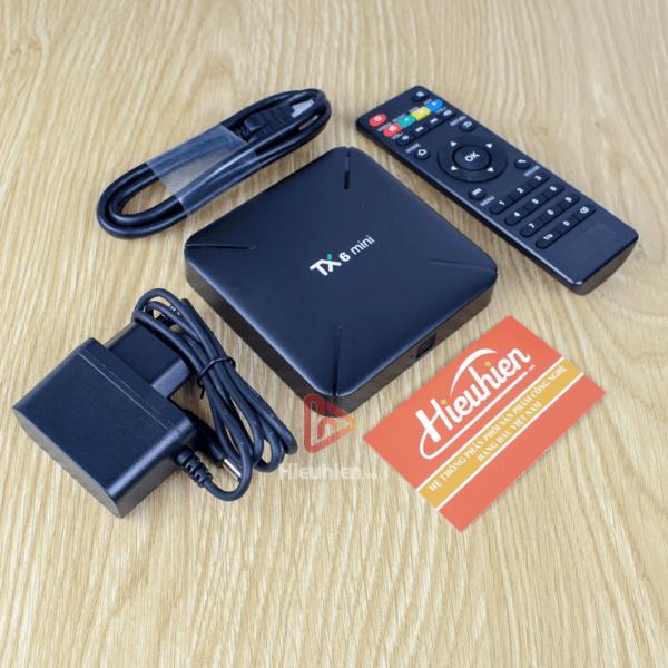 android tv box tanix tx6 mini trang bị cấu hình ram 2gb, rom 16gb, chíp xử lý allwiner h6, chạy hệ điều hành android 9 - hình 05