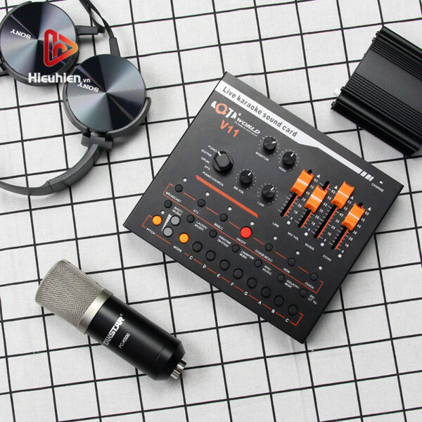 combo micro takstar pc-k500 + sound card v11 - thu âm hát livestream - hình 02