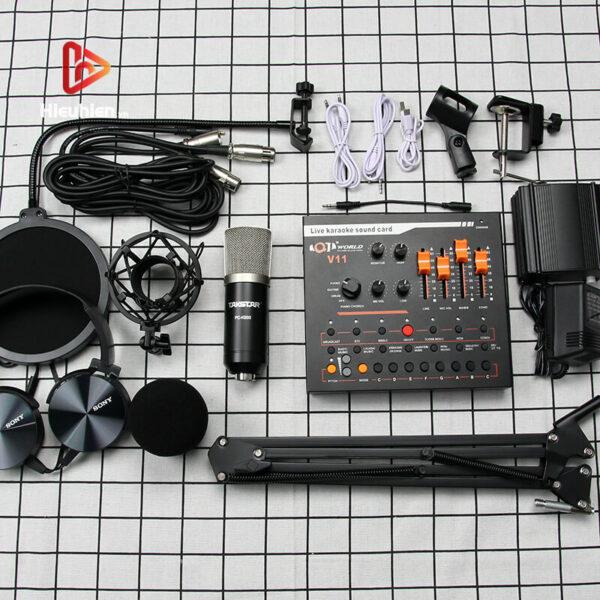 combo micro takstar pc-k500 + sound card v11 - thu âm hát livestream - hình 03
