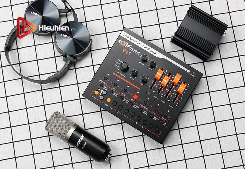 combo micro takstar pc-k500 + sound card v11 - thu âm hát livestream - hình 06