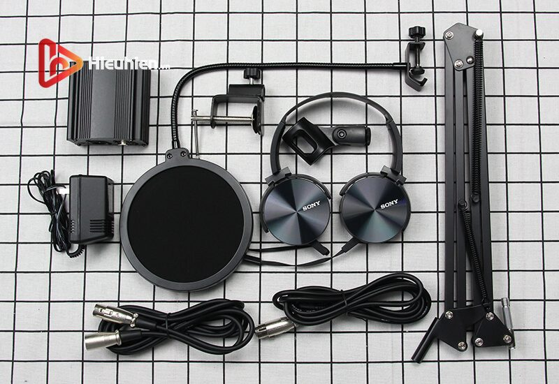 combo micro takstar pc-k500 + sound card v11 - thu âm hát livestream - hình 07