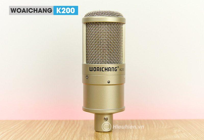 combo micro woaichang k200 + sound card v11 - thu âm, hát livestream - hình 05