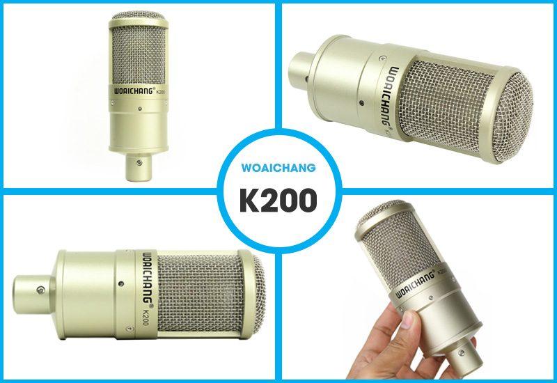 combo micro woaichang k200 + sound card v11 - thu âm, hát livestream - hình 06