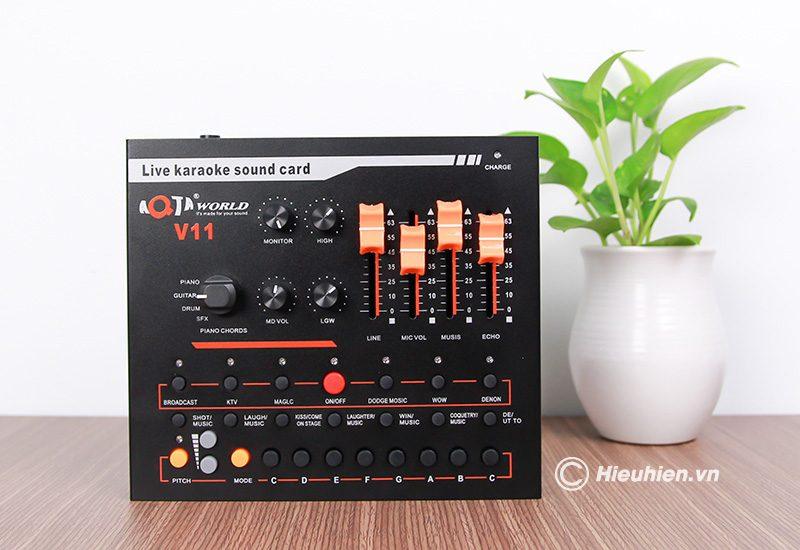 combo micro woaichang k200 + sound card v11 - thu âm, hát livestream - hình 08