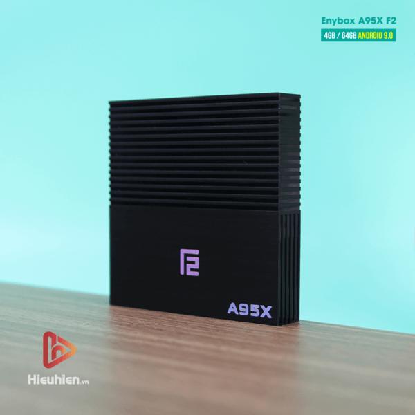 android tv box enybox a95x f2 cấu hình ram 4gb rom 64gb, android 9.0, chip xử lý s905x2