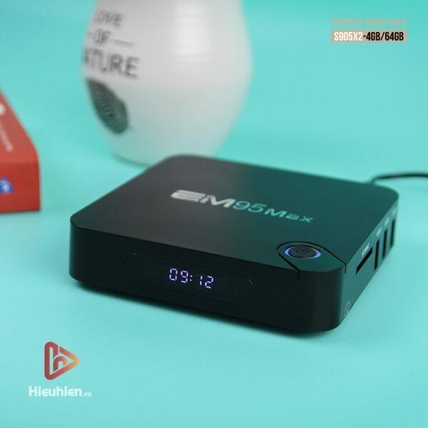 enybox em95 max ram 4gb rom 64gb, chip xử lý amlogic s905x2, hệ điều hành android 9.0 - hình 01
