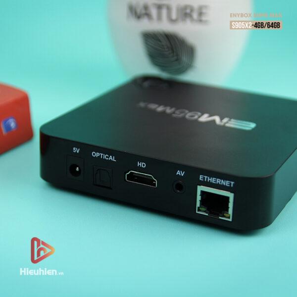 enybox em95 max ram 4gb rom 64gb, chip xử lý amlogic s905x2, hệ điều hành android 9.0 - hình 02