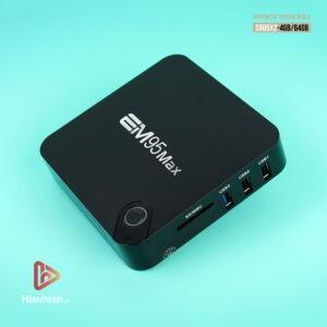 enybox em95 max ram 4gb rom 64gb, chip xử lý amlogic s905x2, hệ điều hành android 9.0