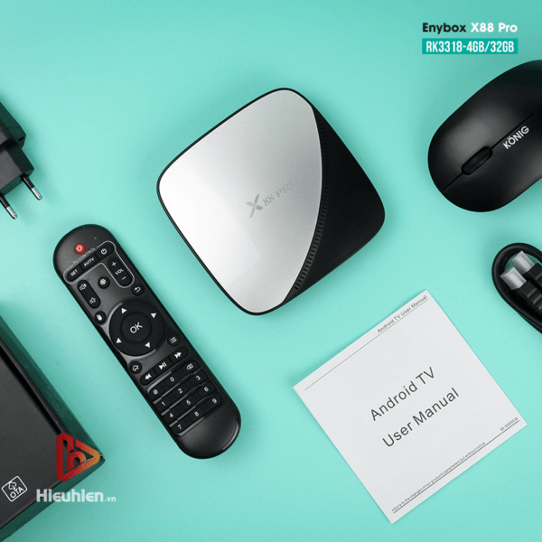 enybox x88 pro rk3318 4gb/32gb android 9.0 tv box 4k - hình 16