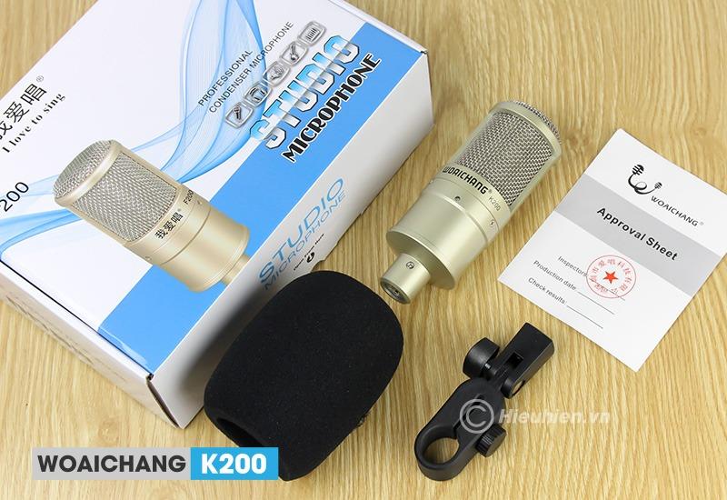 top 6 micro thu âm livestream, hát karaoke tốt nhất, nên mua 2019 - woaichang k200