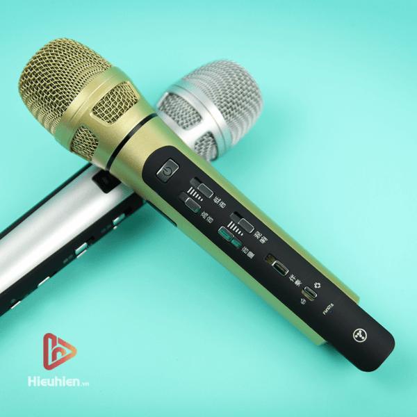 tuxun k9 - bản thiếng trung - micro karaoke trên xe hơi, ô tô kết nối tần số fm - hình 02