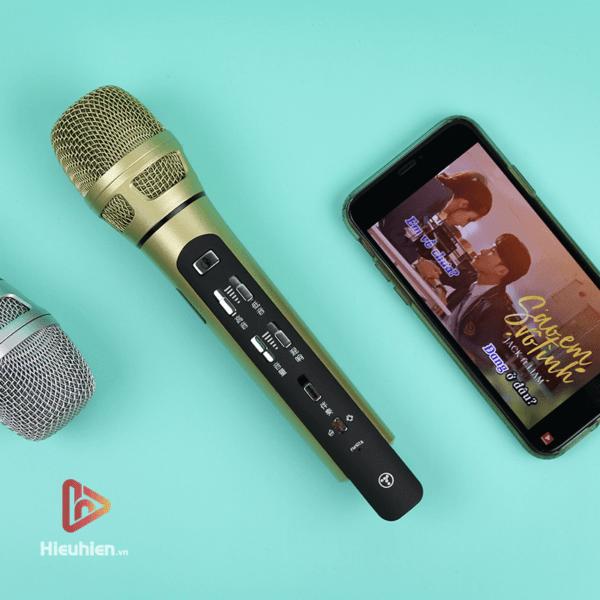 tuxun k9 - bản thiếng trung - micro karaoke trên xe hơi, ô tô kết nối tần số fm - hình 03