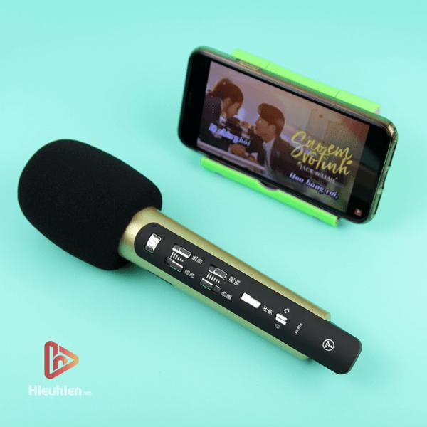 tuxun k9 - bản thiếng trung - micro karaoke trên xe hơi, ô tô kết nối tần số fm - hình 04