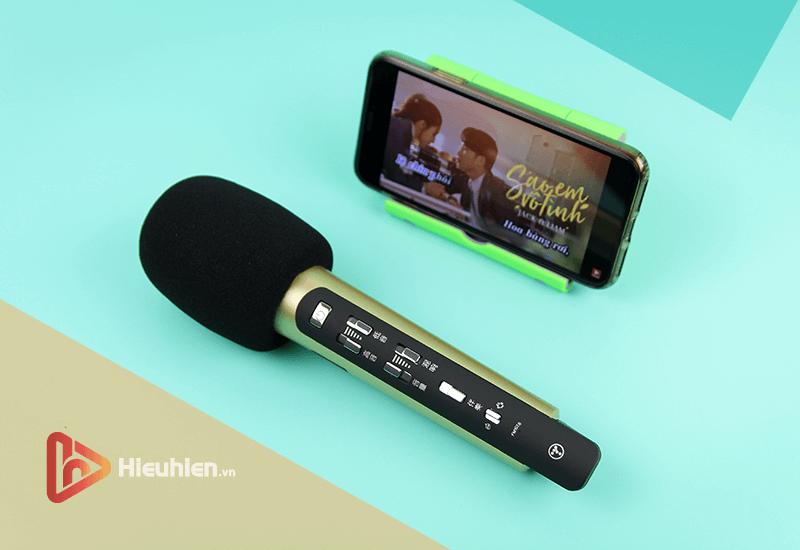 tuxun k9 - bản thiếng trung - micro karaoke trên xe hơi, ô tô kết nối tần số fm - hình 09