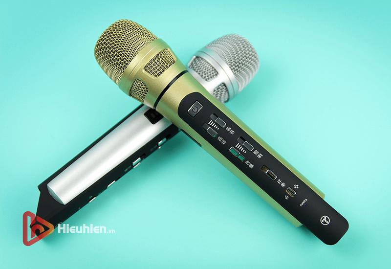 tuxun k9 - bản thiếng trung - micro karaoke trên xe hơi, ô tô kết nối tần số fm - hình 10