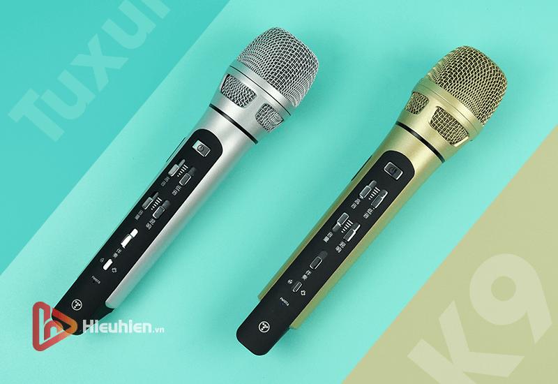 tuxun k9 - bản thiếng trung - micro karaoke trên xe hơi, ô tô kết nối tần số fm - hình 11