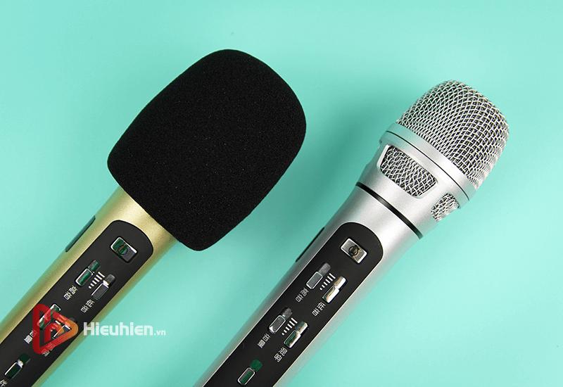 tuxun k9 - bản thiếng trung - micro karaoke trên xe hơi, ô tô kết nối tần số fm - hình 12