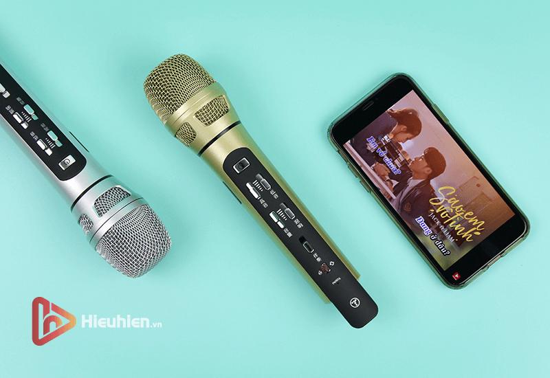 tuxun k9 - bản thiếng trung - micro karaoke trên xe hơi, ô tô kết nối tần số fm - hình 13