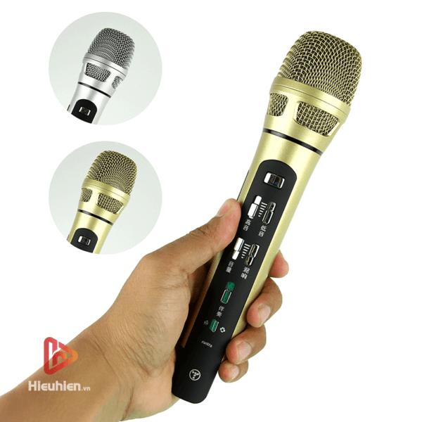tuxun k9 - bản thiếng trung - micro karaoke trên xe hơi, ô tô kết nối tần số fm