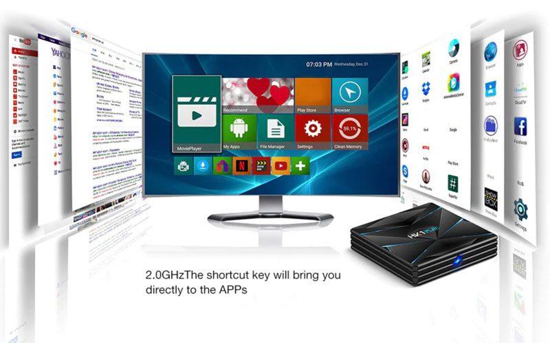 hk1 play 4gb/64gb android 9.0 tv box 4k, s905x2, 2.4ghz/5ghz wifi - hình 12