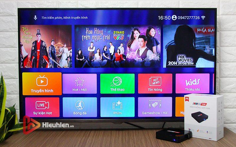 android tv box vtvcab on lite - hộp truyền hình bản quyền, cấu hình ram 2gb, rom 16gb, chip s905w, android 7.1 - hình 14