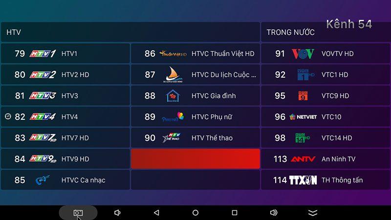 android tv box vtvcab on lite - hộp truyền hình bản quyền, cấu hình ram 2gb, rom 16gb, chip s905w, android 7.1 - hình 19