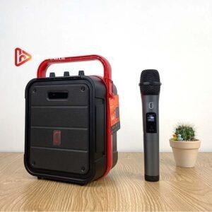 loa xách tay karaoke bluetooth jyx ms61bt - tặng micro không dây - hình 01