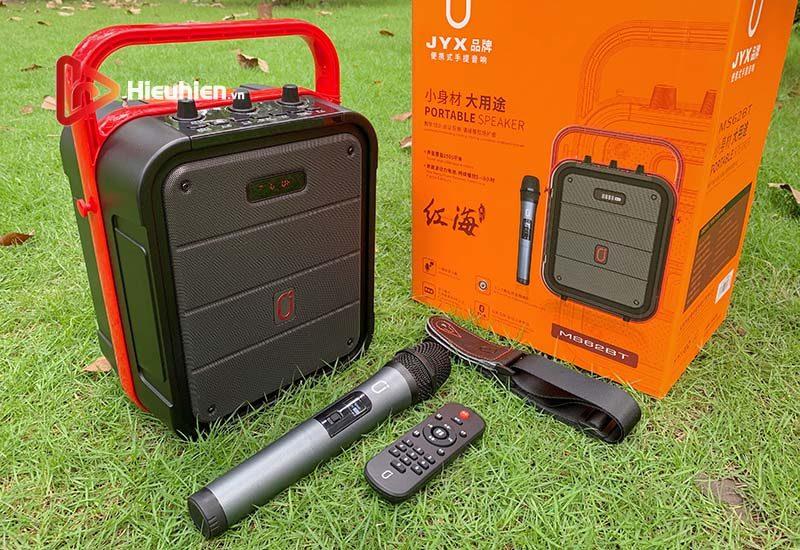 loa xách tay karaoke bluetooth jyx ms62bt - tặng micro không dây - hình 01