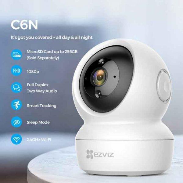 ezviz cs-c6n full hd 1080p - camera quan sát trong nhà điều chỉnh xoay - hinh 02