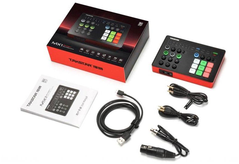 Trọn bộ Soundcard Takstar SC-M1 đầy đủ phụ kiện, sách hướng dẫn