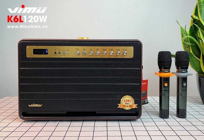 vimu k6l loa karaoke di động tặng kèm 2 micro không dây cao cấp