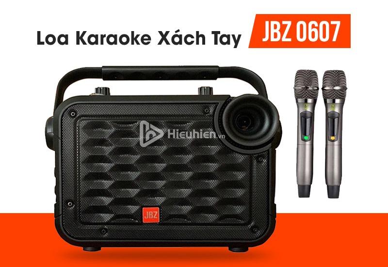loa karaoke xách tay, loa kéo di động JBZ 0607