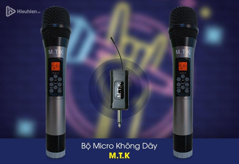 Micro không dây M.T.K kèm bộ nhận tín hiệu UHF