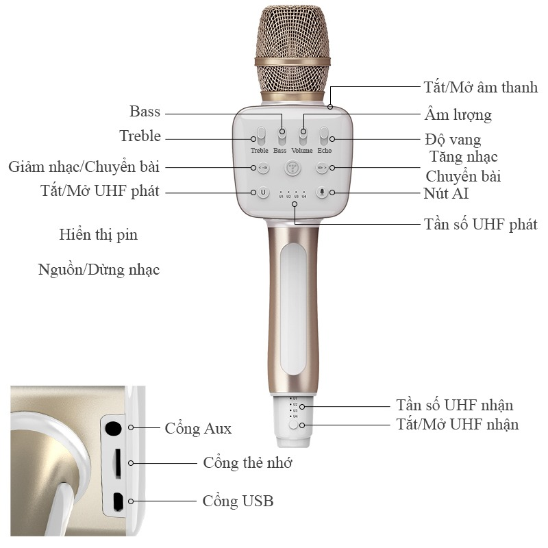 Tosing V2 - Micro Karaoke Bluetooth Cao Cấp 05