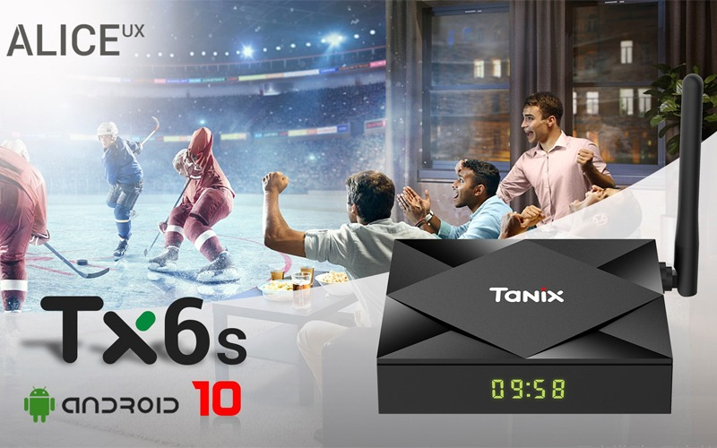 Tanix TX6S chạy Android 10