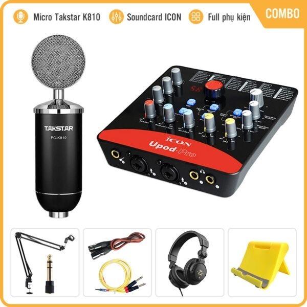 Takstar PC-K810 – Micro Thu Âm Condenser Cao Cấp, Hát Live Stream