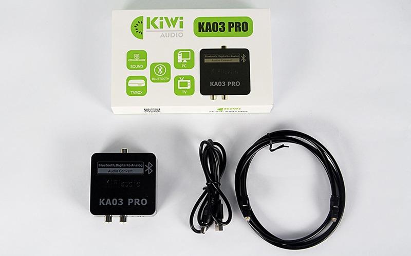 Trọn bộ sản phẩm Kiwi KA03 PRO - Bộ chuyển đổi âm thanh quang
