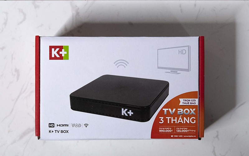 hộp đóng gói cơ bản k+ tv box
