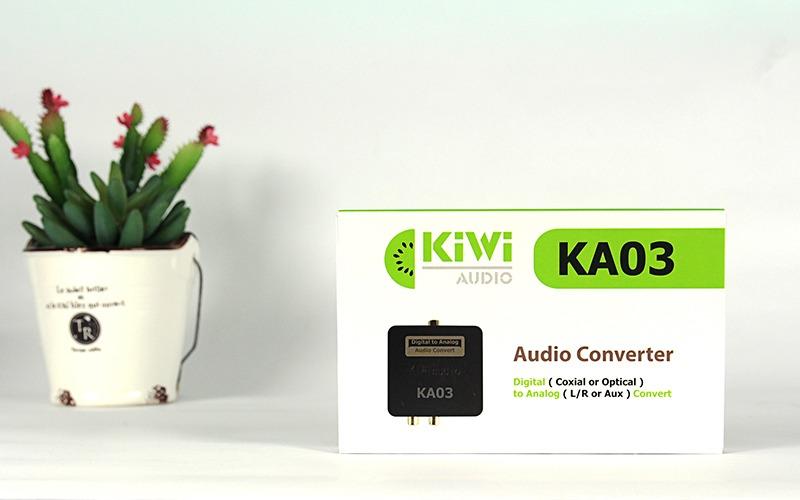 Hộp sản phẩm bộ chuyển đổi âm thanh quang Kiwi KA03