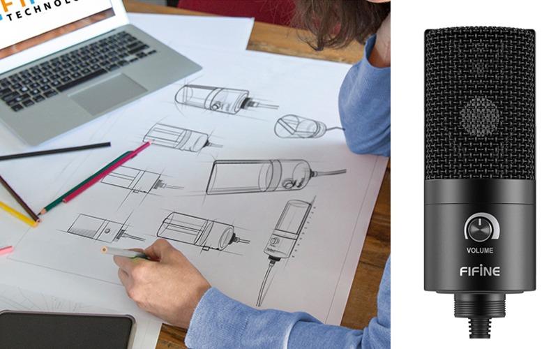 thiết kế của micro thu âm cho máy tính t669