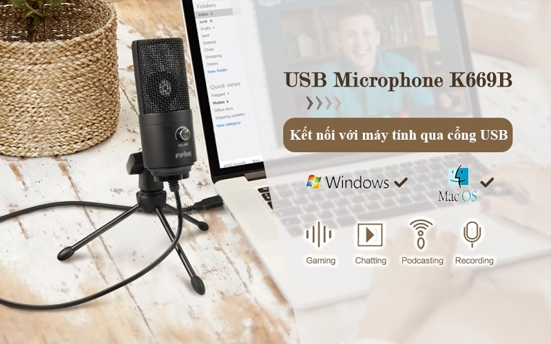 micro thu âm dành cho máy tính kết nối cổng usb