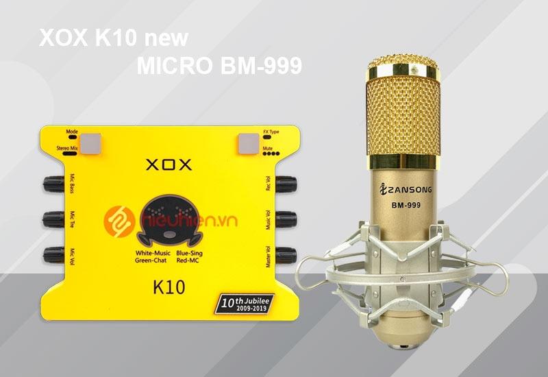Combo Sound Card XOX K10 Phiên Bản Mới 2020 + Kèm Mic BM-999✅ Dùng thu âm hát livestream với chất lượng âm thanh cải tiến ✅ Ship COD toàn quốc ✅